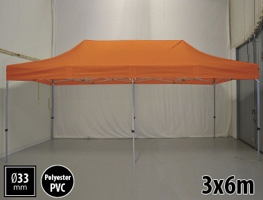 Tente pliante SEMI PRO métal 3x6m orange