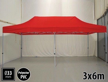Tente pliante SEMI PRO métal 3x6m rouge