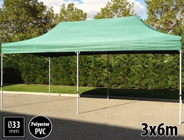 Tente pliante SEMI PRO métal 3x6m vert