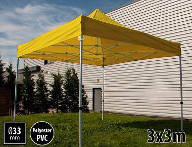 Tente pliante SEMI PRO métal 3x3m jaune