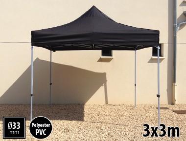 Tente pliante SEMI PRO métal 3x3m noir