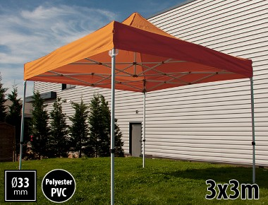 Tente pliante SEMI PRO métal 3x3m orange
