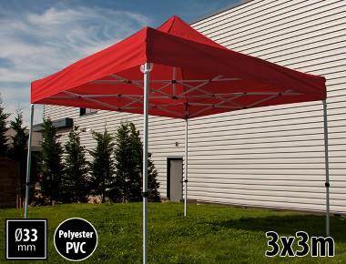 Tente pliante SEMI PRO métal 3x3m rouge