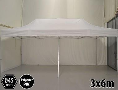 Tente pliante SEMI PRO métal 3x6m blanc