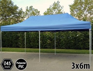 Tente pliante PRO aluminium 3x6m bleu