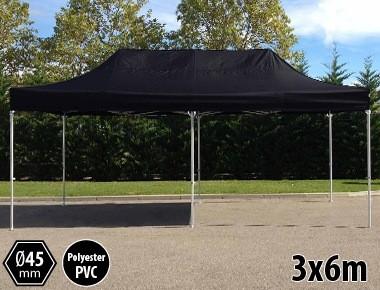 Tente pliante PRO aluminium 3x6m noir