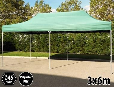 Tente pliante PRO aluminium 3x6m vert