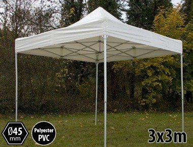 Tente pliante PRO aluminium 3x3m blanc