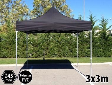 Tente pliante PRO aluminium 3x3m noir