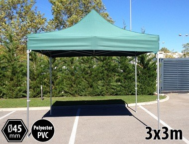 Tente pliante PRO aluminium 3x3m vert