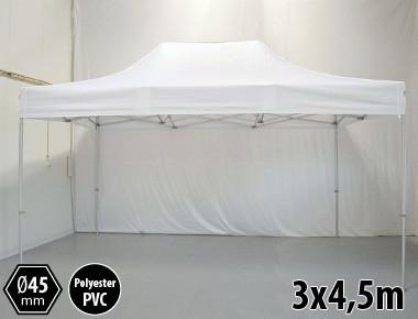 Tonnelle pliante PRO aluminium 3x45m blanc