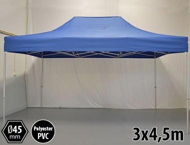 Tonnelle pliante PRO aluminium 3x45m bleu