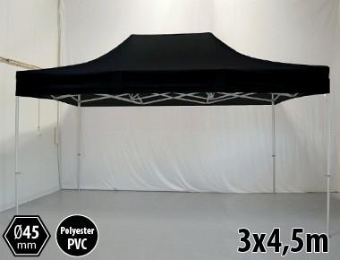 Tonnelle pliante PRO aluminium 3x45m noir
