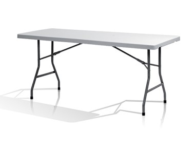 Table pliante 183cm plateau fixe