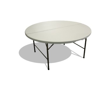 Table ronde pliante 180cm