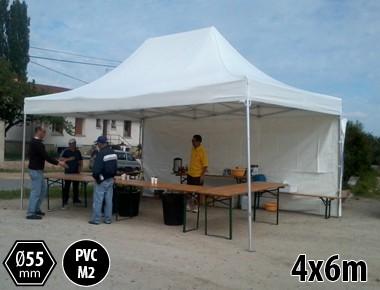 Tente pliante alu toit PVC 550g structure alu