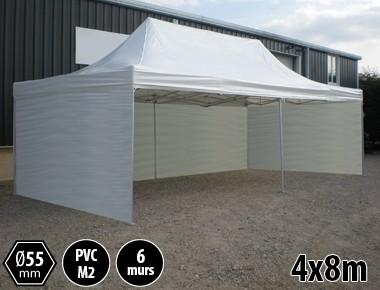 Tente pliante alu 4x8 toit PVC
