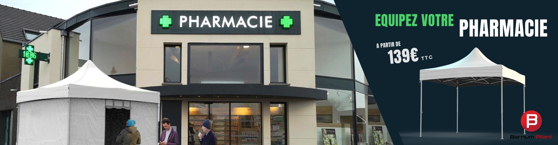Slider barnum pliant pour pharmacie